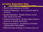 location dependent data