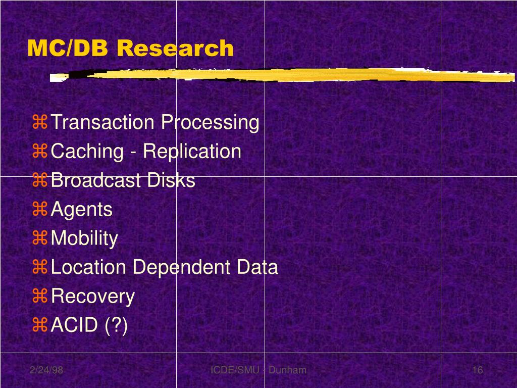 MC/DB Research