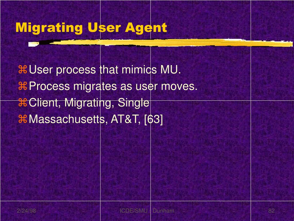 Migrating User Agent