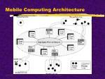 mobile computing architecture