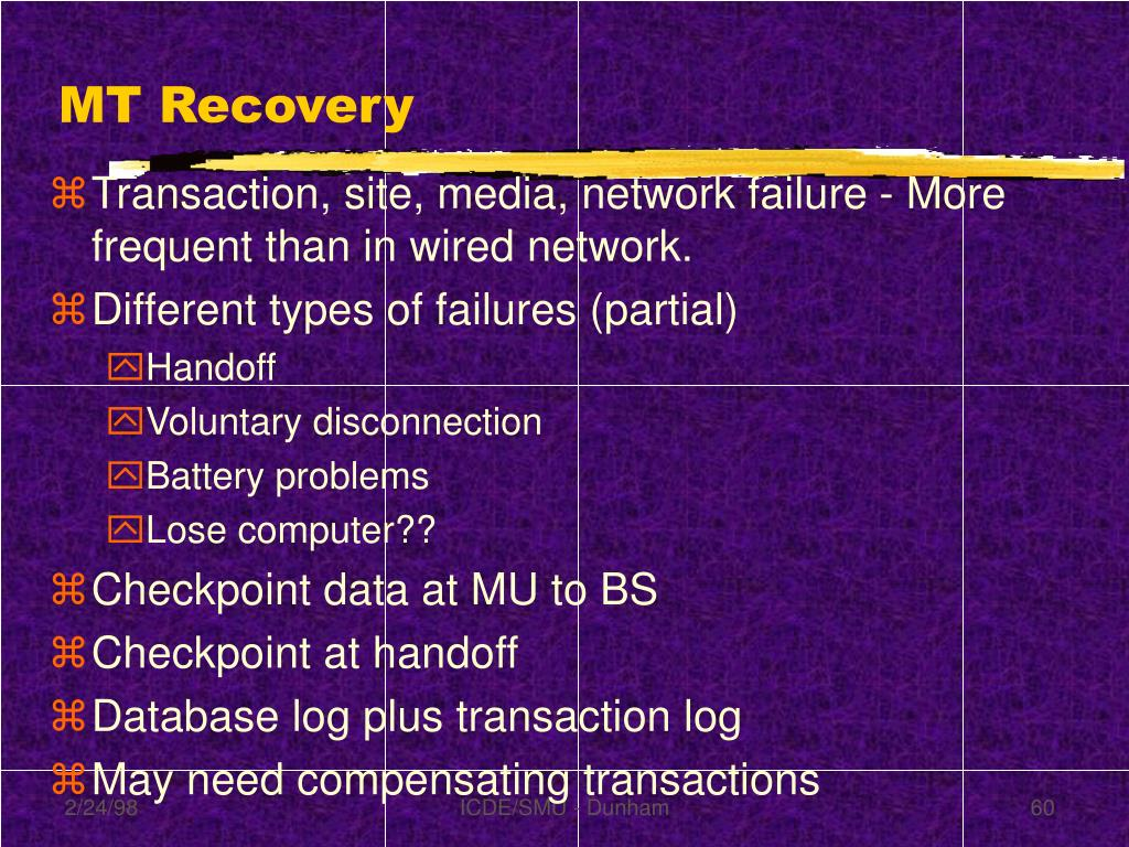 MT Recovery