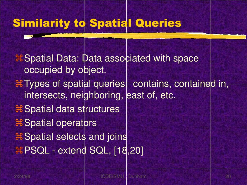 Similarity to Spatial Queries