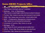 some db mc projects urls