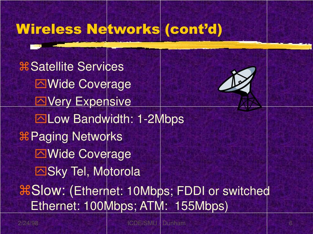 Wireless Networks (cont'd)