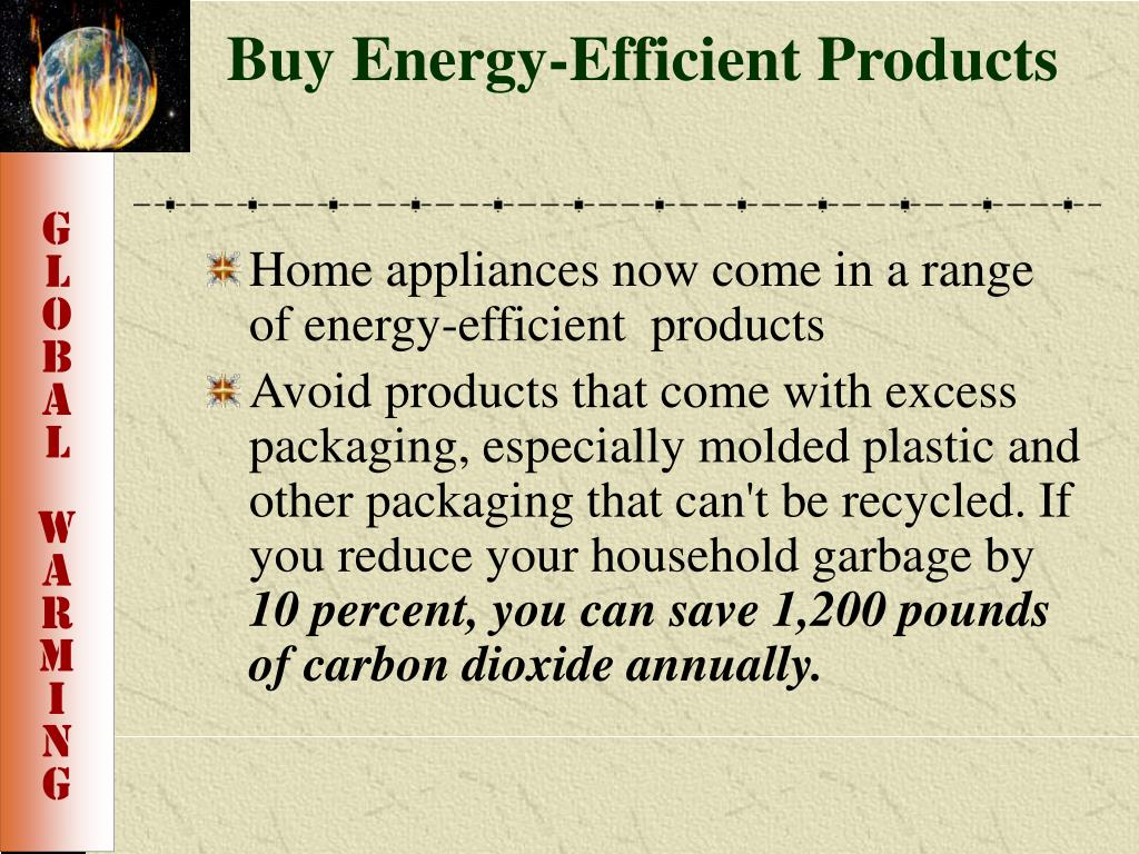 Buy Energy-Efficient Products