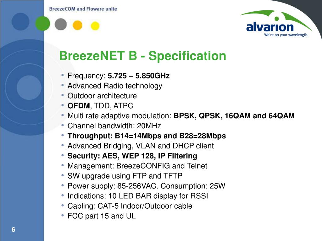 BreezeNET B - Specification
