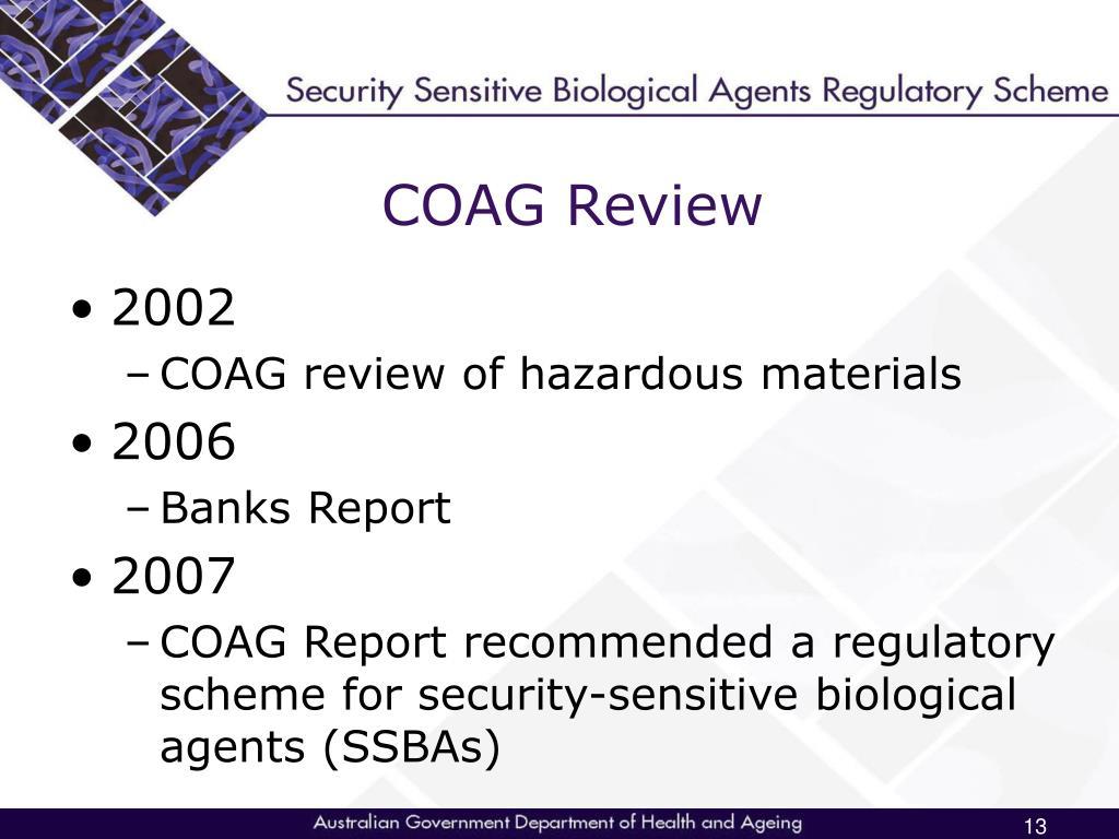 COAG Review