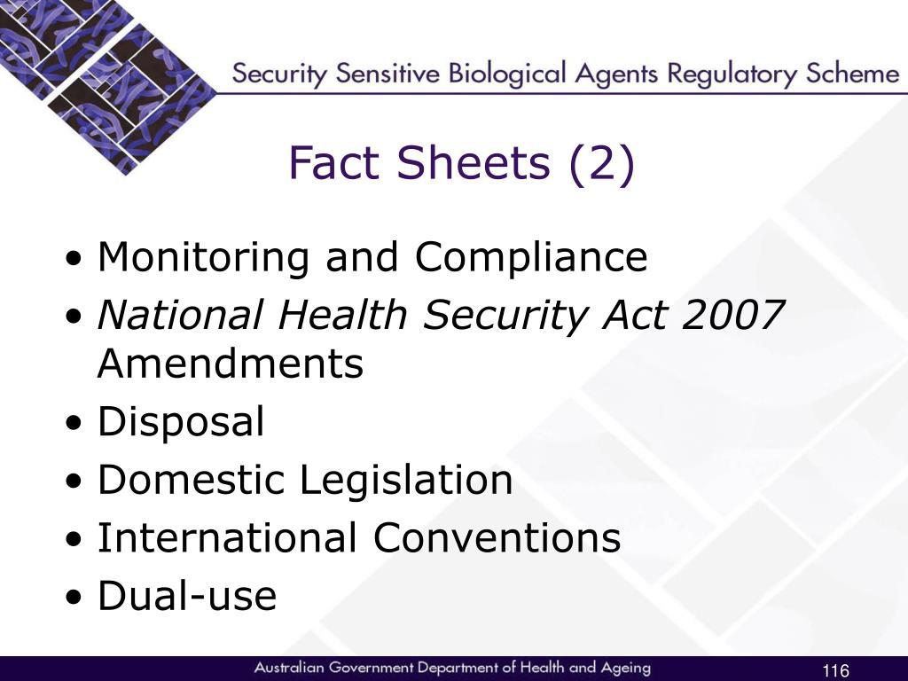 Fact Sheets (2)