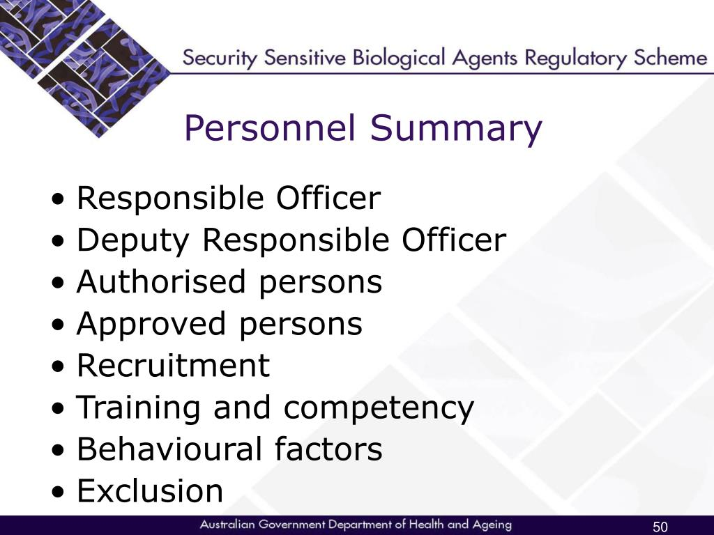 Personnel Summary