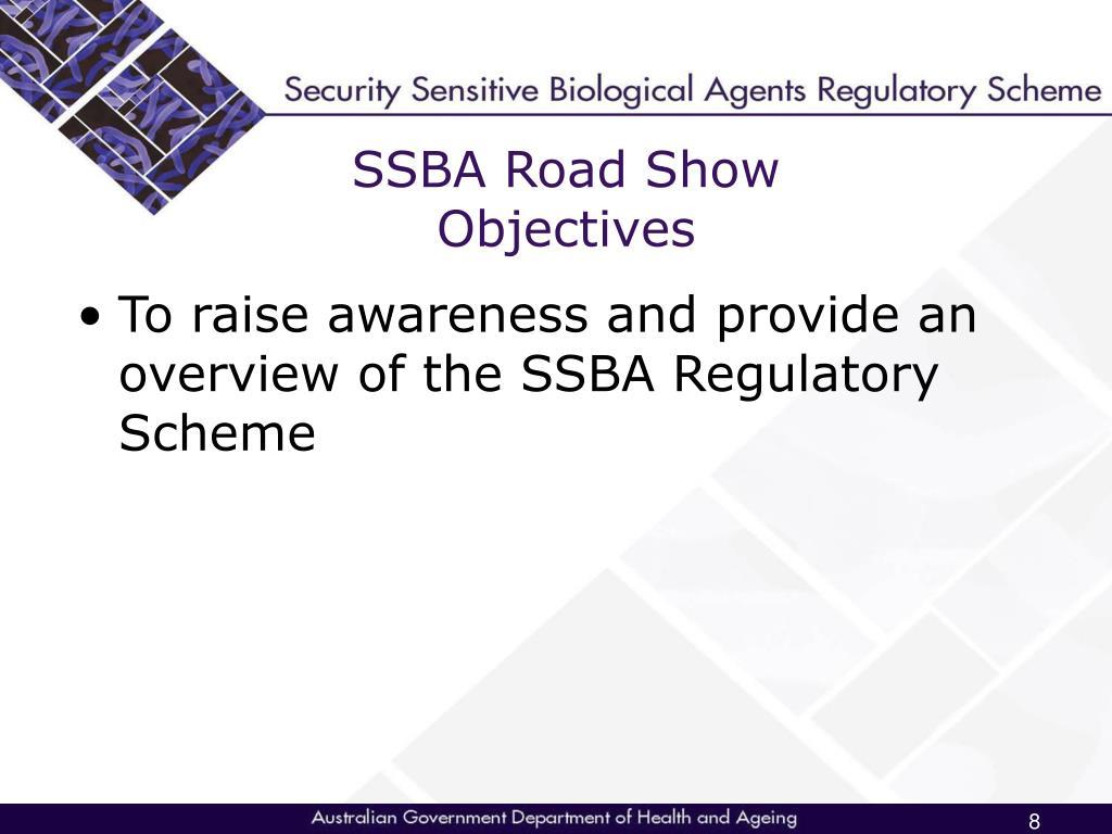 SSBA Road Show