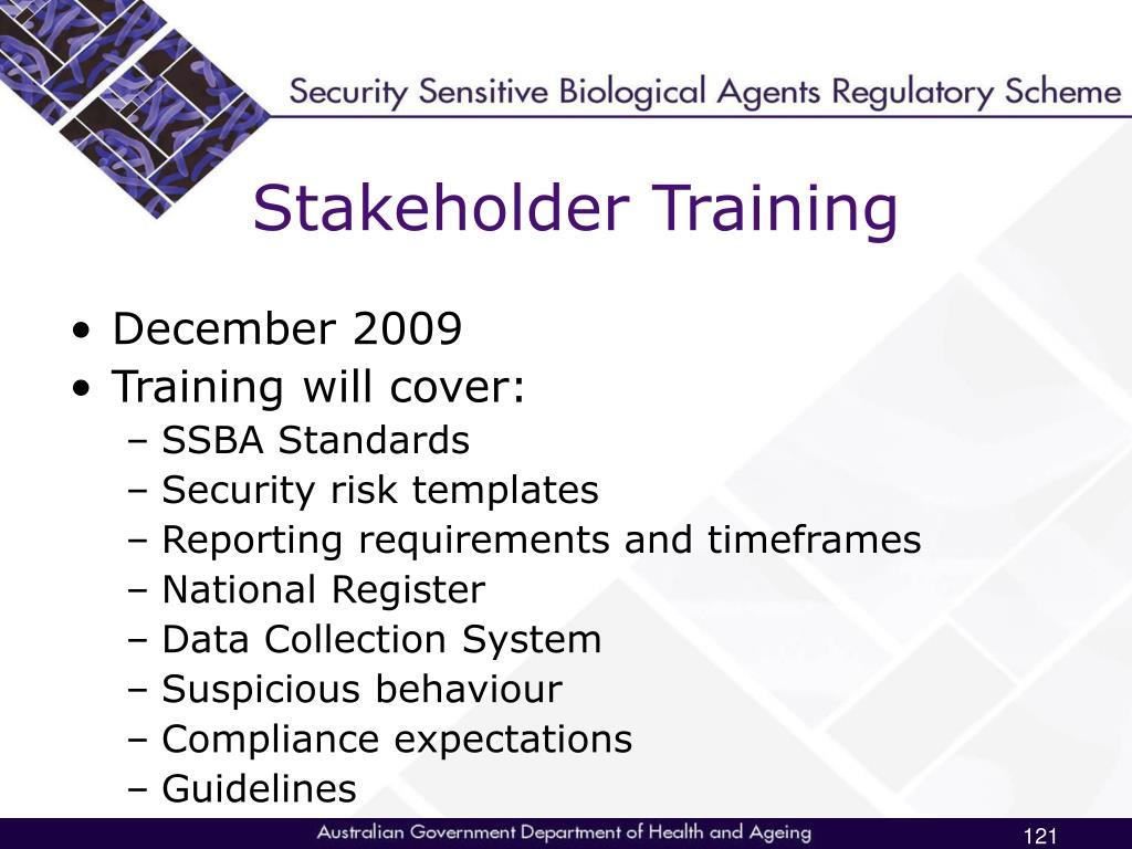 Stakeholder Training