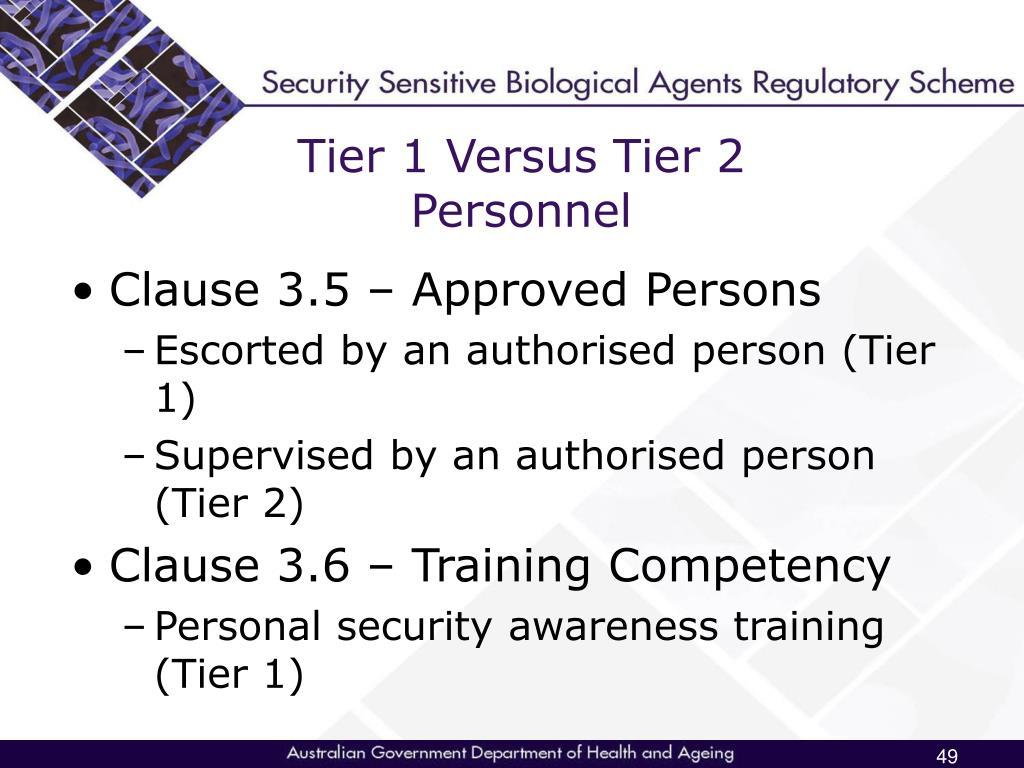 Tier 1 Versus Tier 2