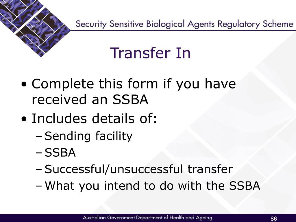 Transfer In
