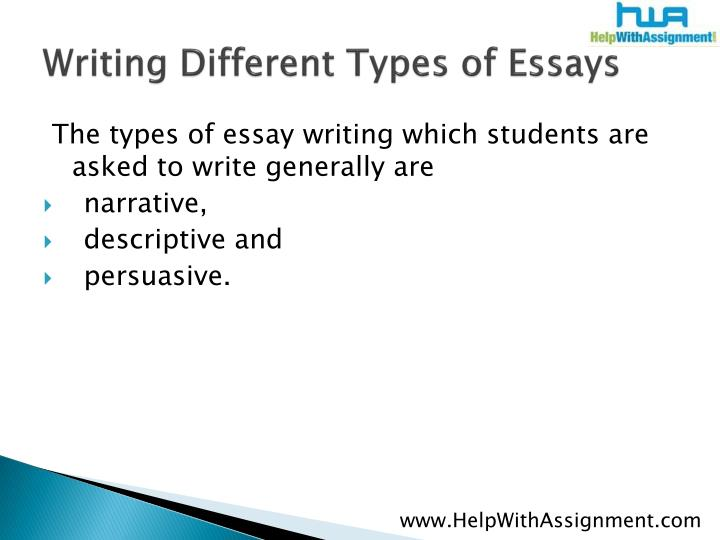 Writing different types of essays3