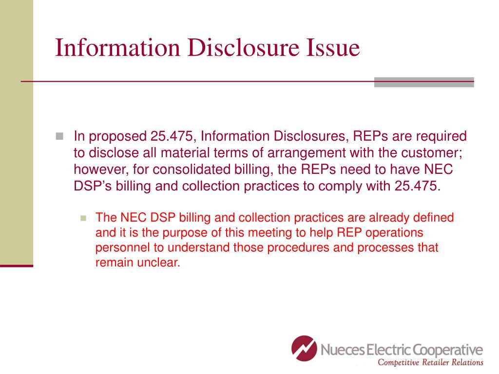 Information Disclosure Issue