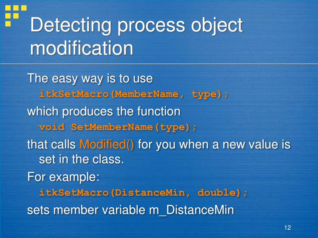 Detecting process object modification