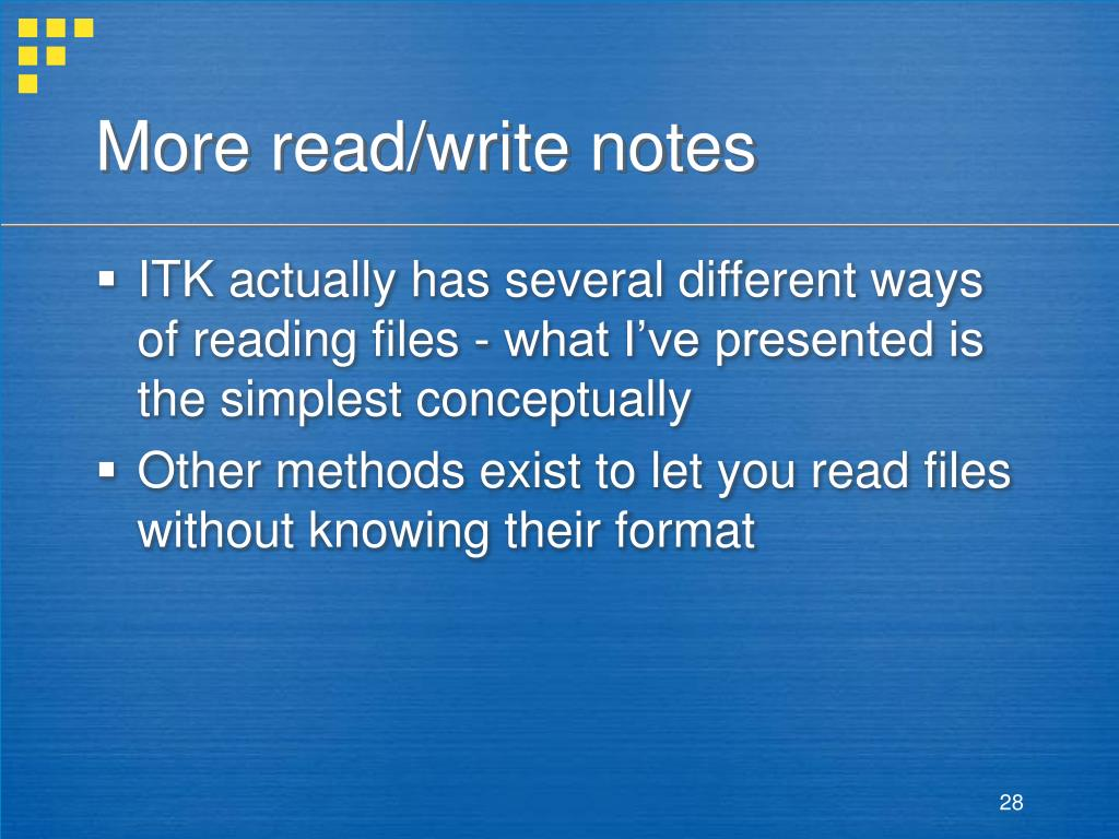 More read/write notes