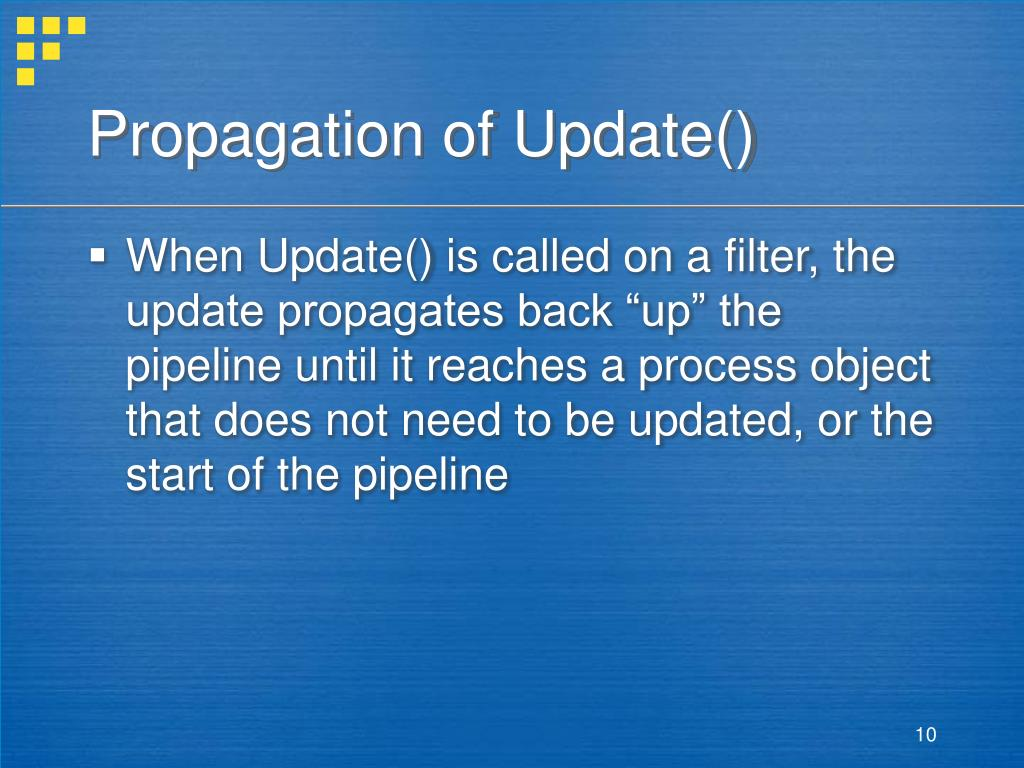 Propagation of Update()