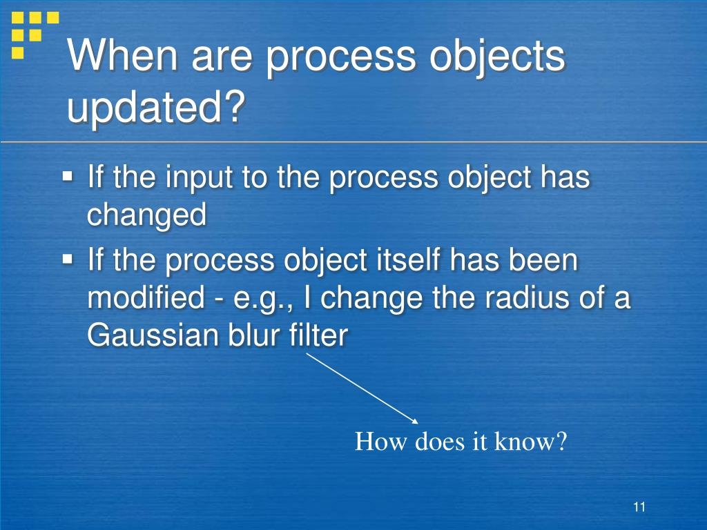 When are process objects updated?