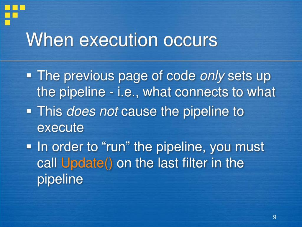 When execution occurs