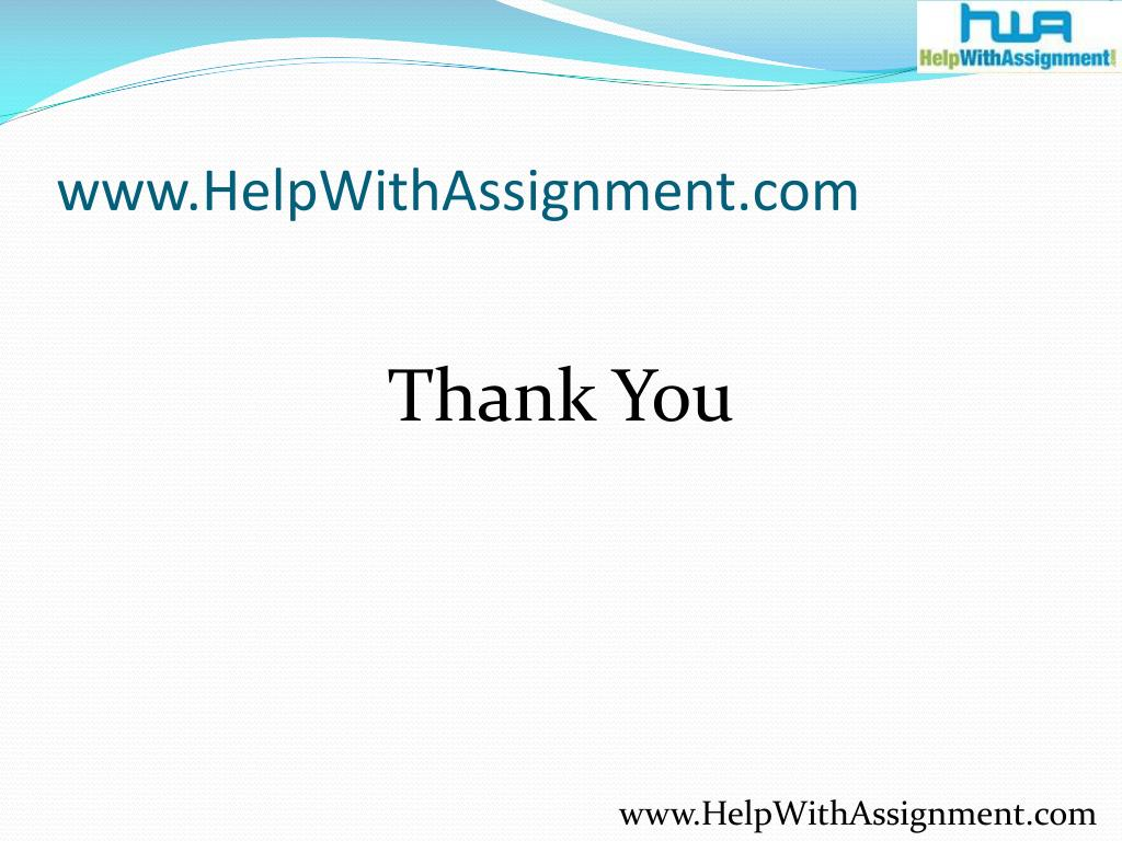 www.HelpWithAssignment.com
