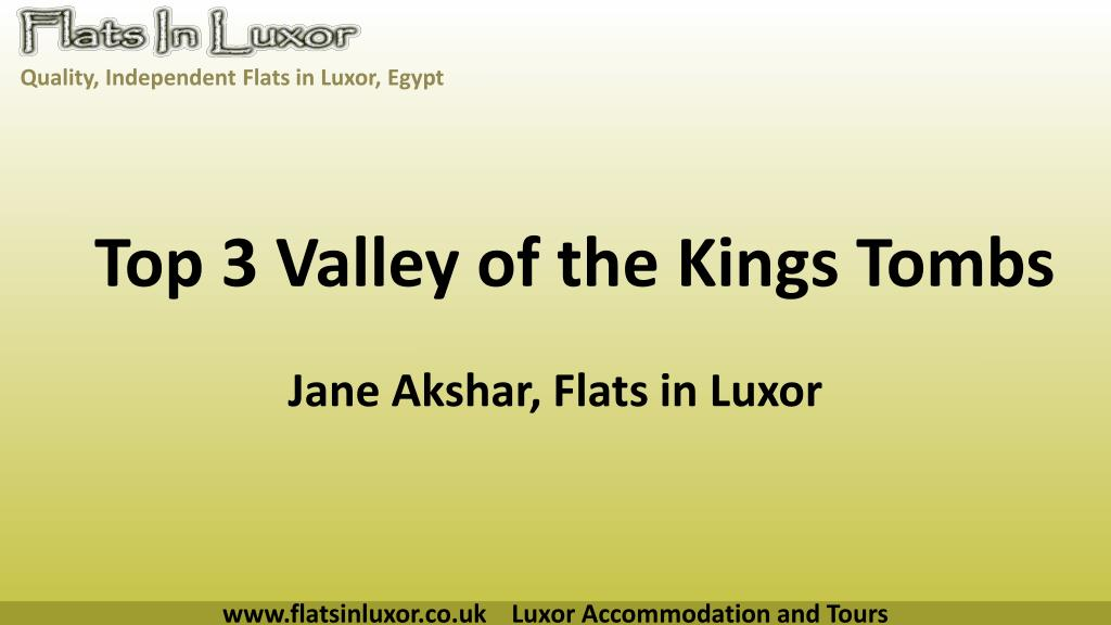 Top 3 Valley of the Kings Tombs