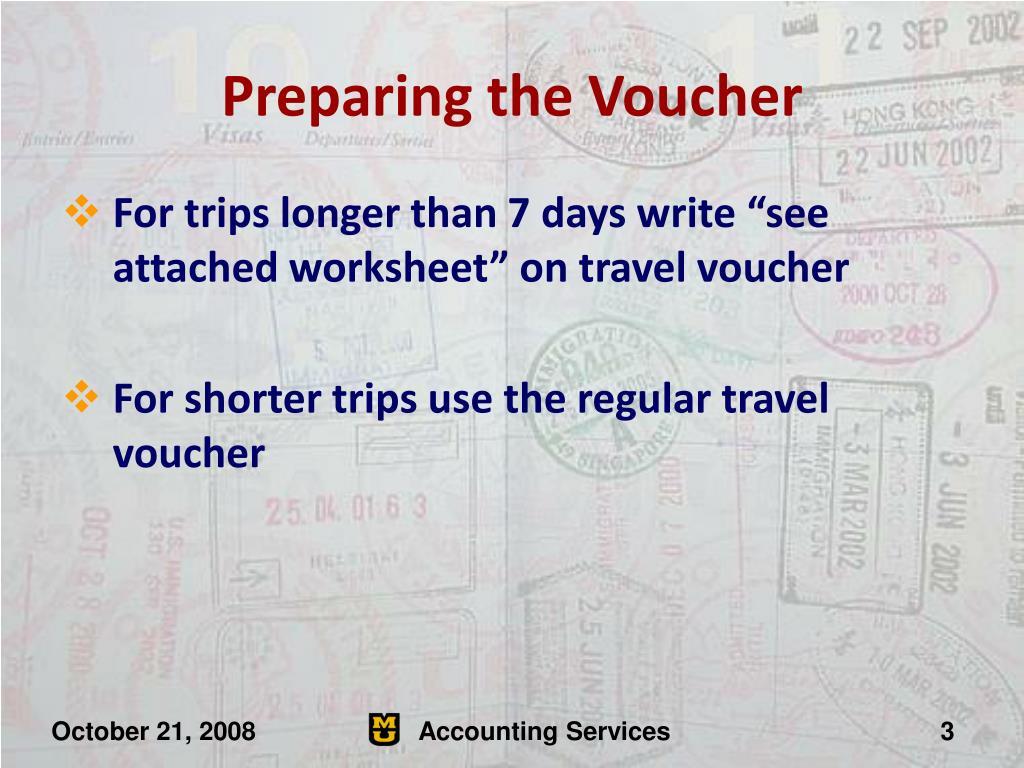 Preparing the Voucher