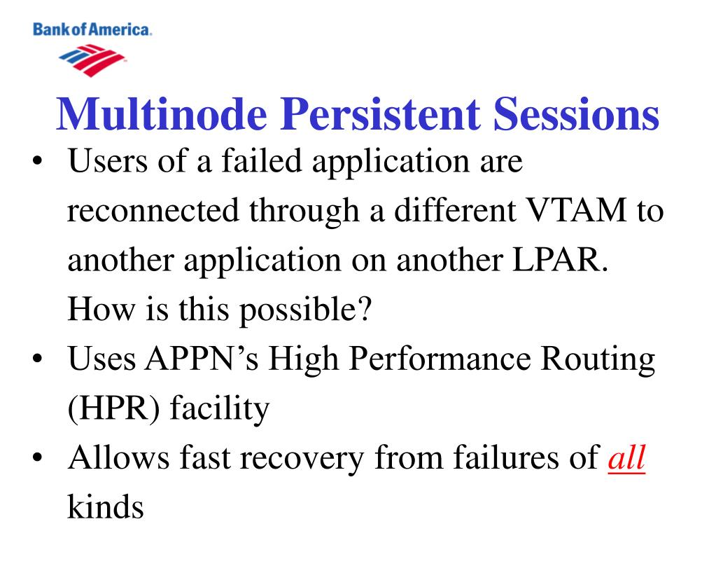 Multinode Persistent Sessions