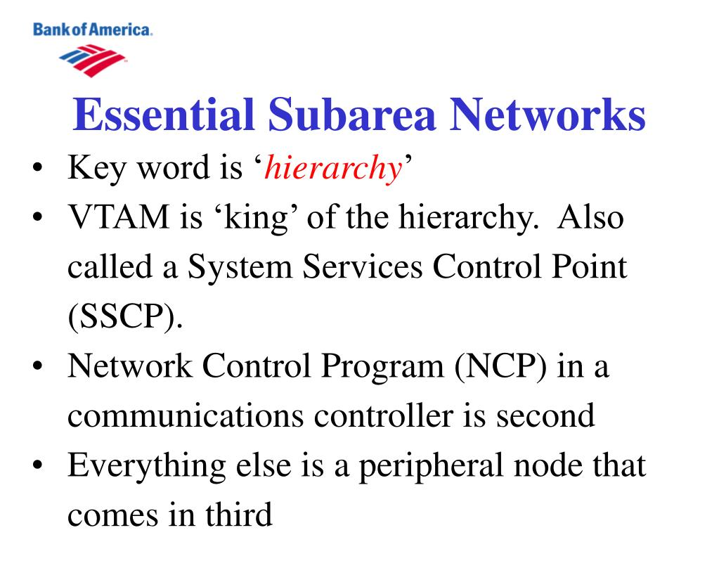 Essential Subarea Networks