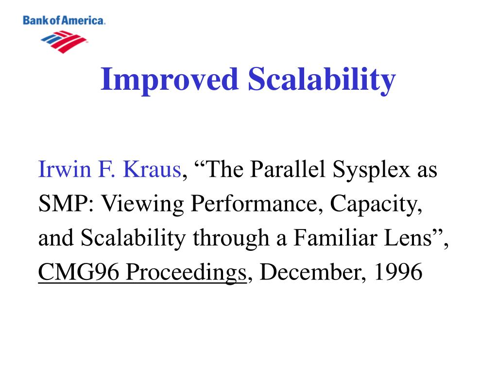 Improved Scalability