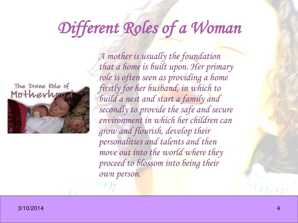 Different Roles of a Woman