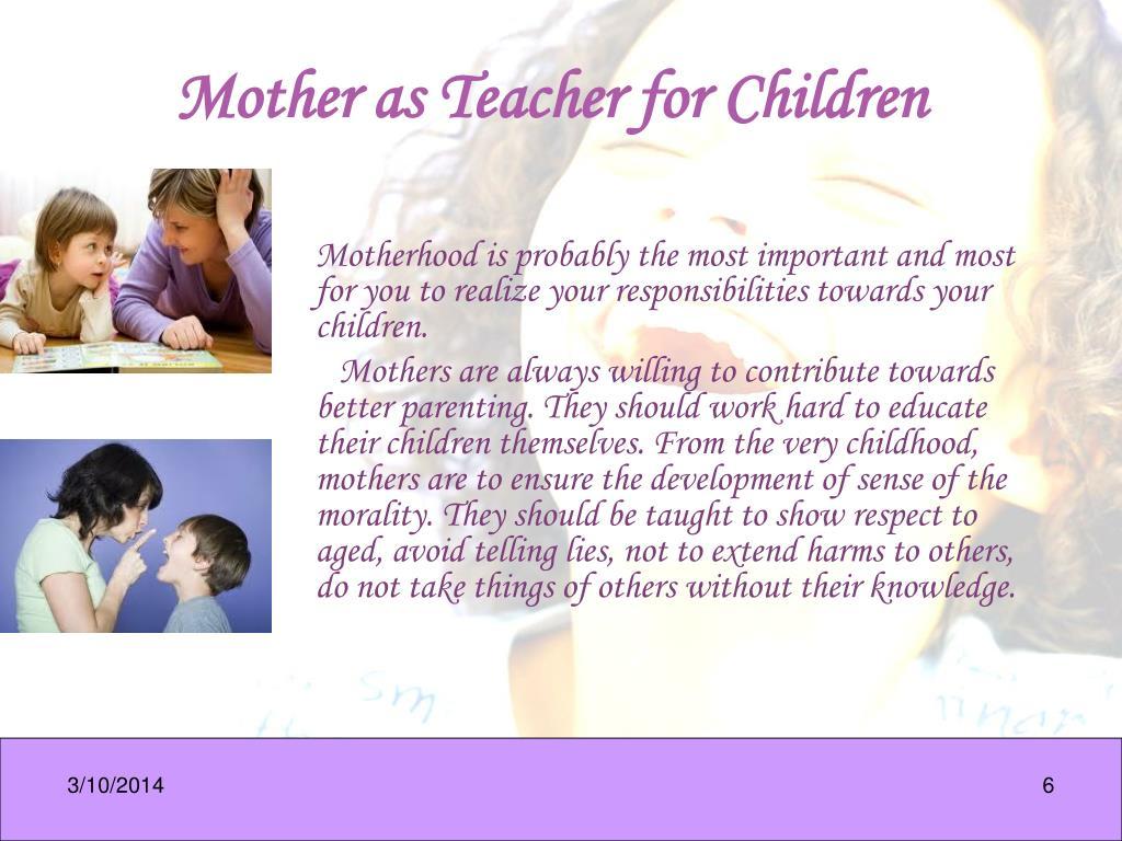 Mother as Teacher for Children