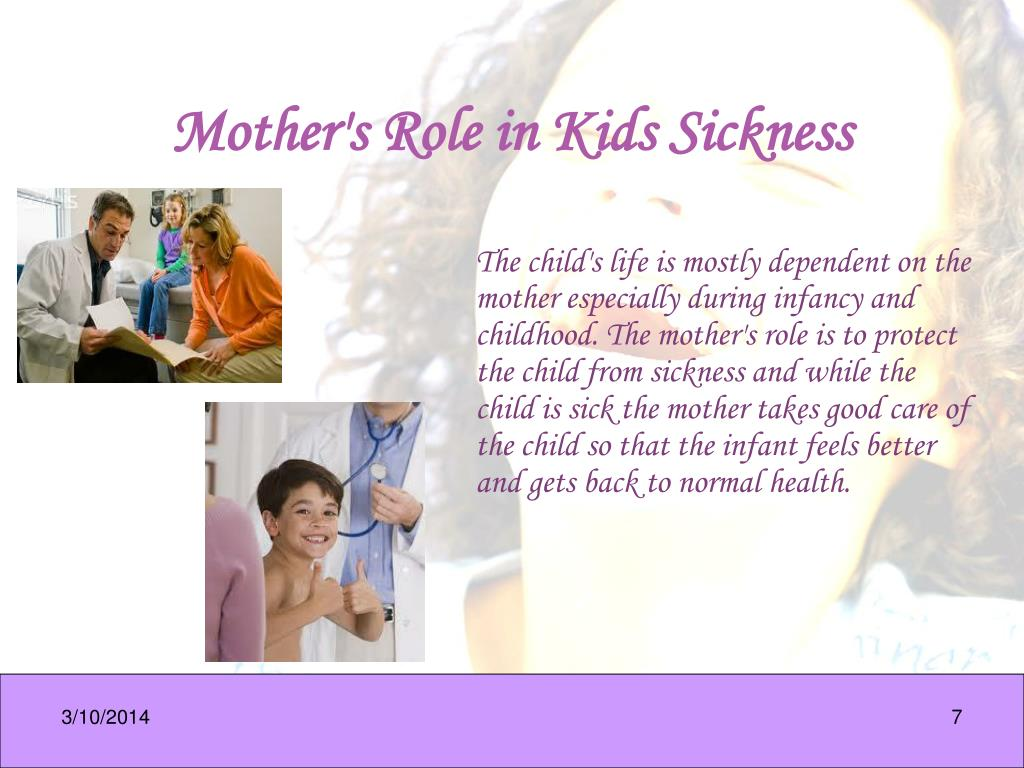 Mother's Role in Kids Sickness