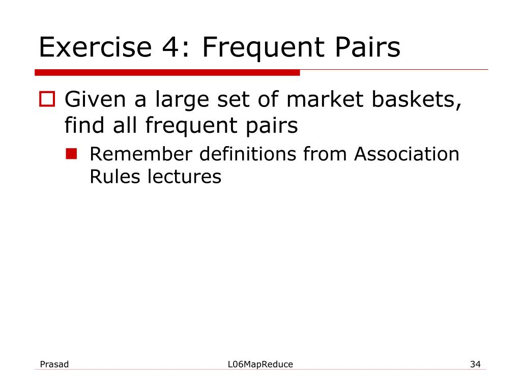 Exercise 4: Frequent Pairs