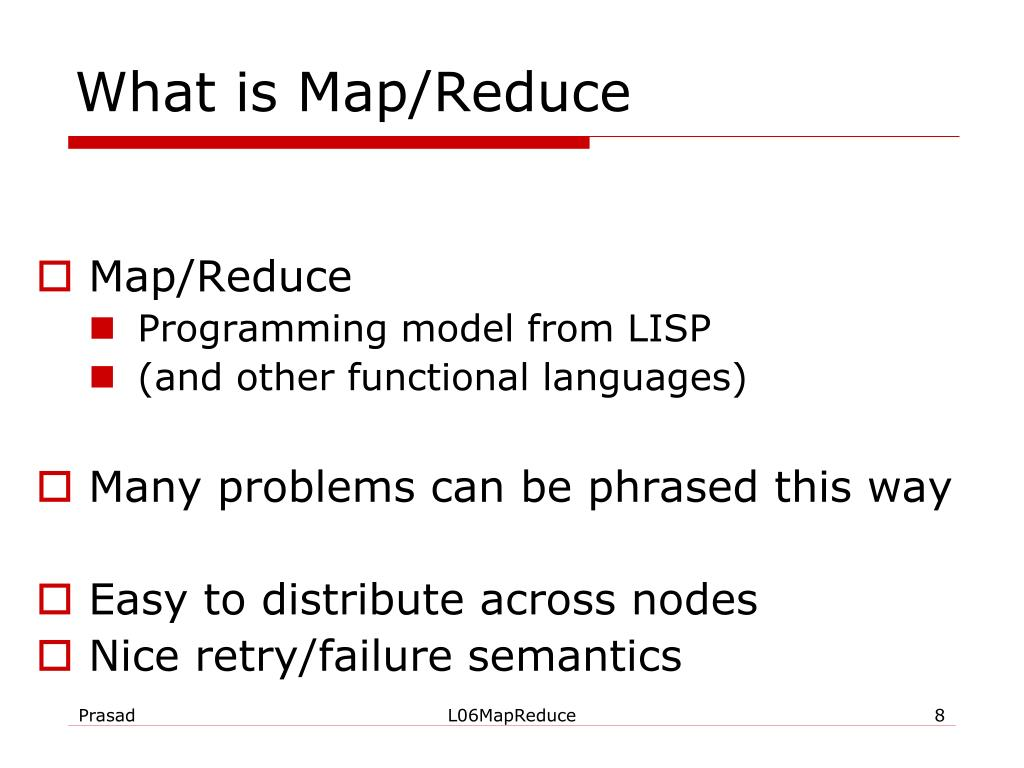 What is Map/Reduce