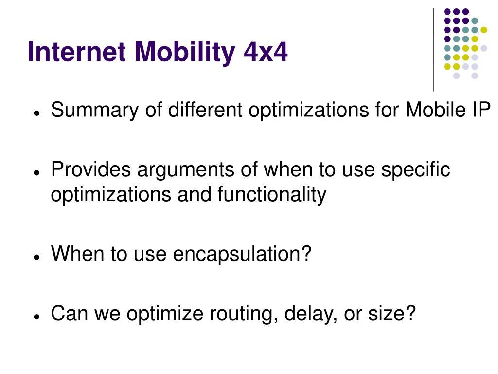 Internet Mobility 4x4