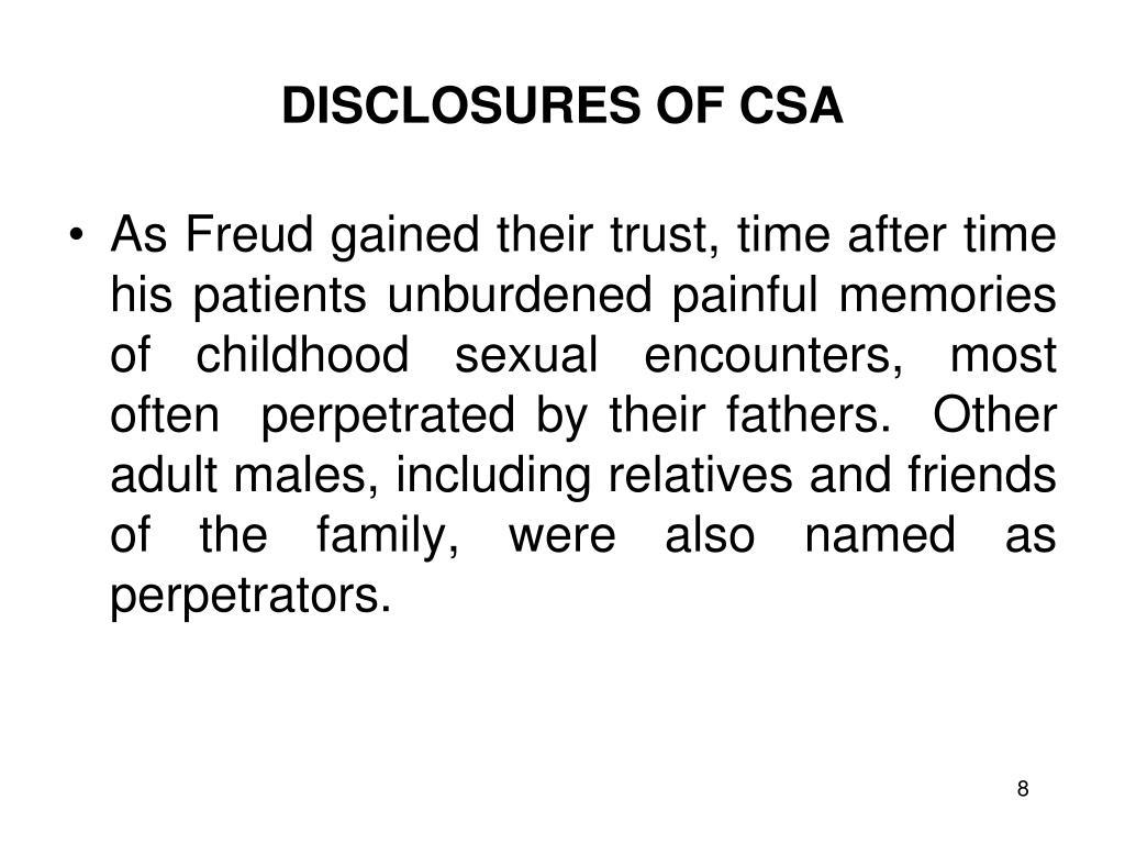 DISCLOSURES OF CSA