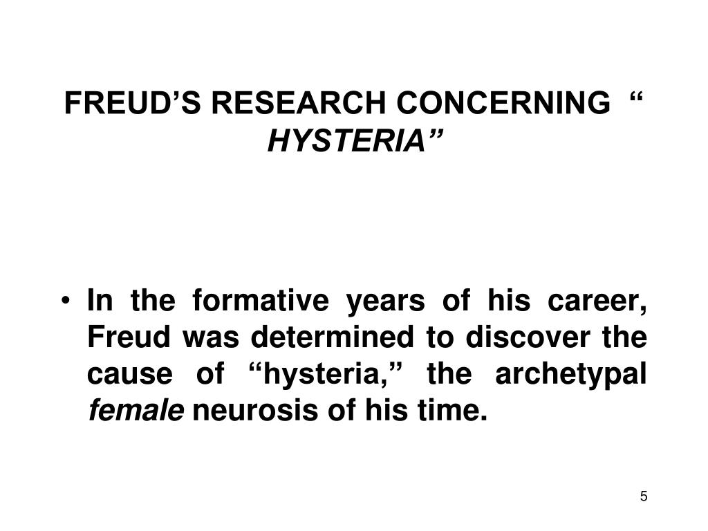 FREUD'S RESEARCH CONCERNING  ""