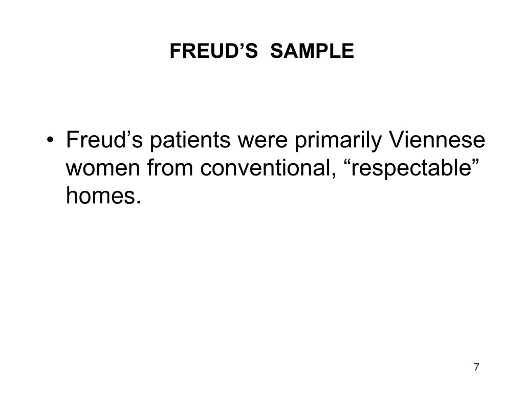 FREUD'S  SAMPLE