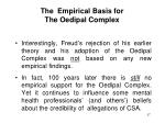 the empirical basis for the oedipal complex