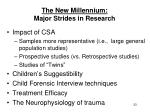the new millennium major strides in research