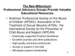 the new millennium professional advocacy groups provide valuable educational resources