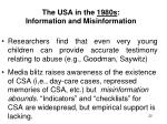 the usa in the 1980s information and misinformation
