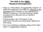 the usa in the 1990s research developments