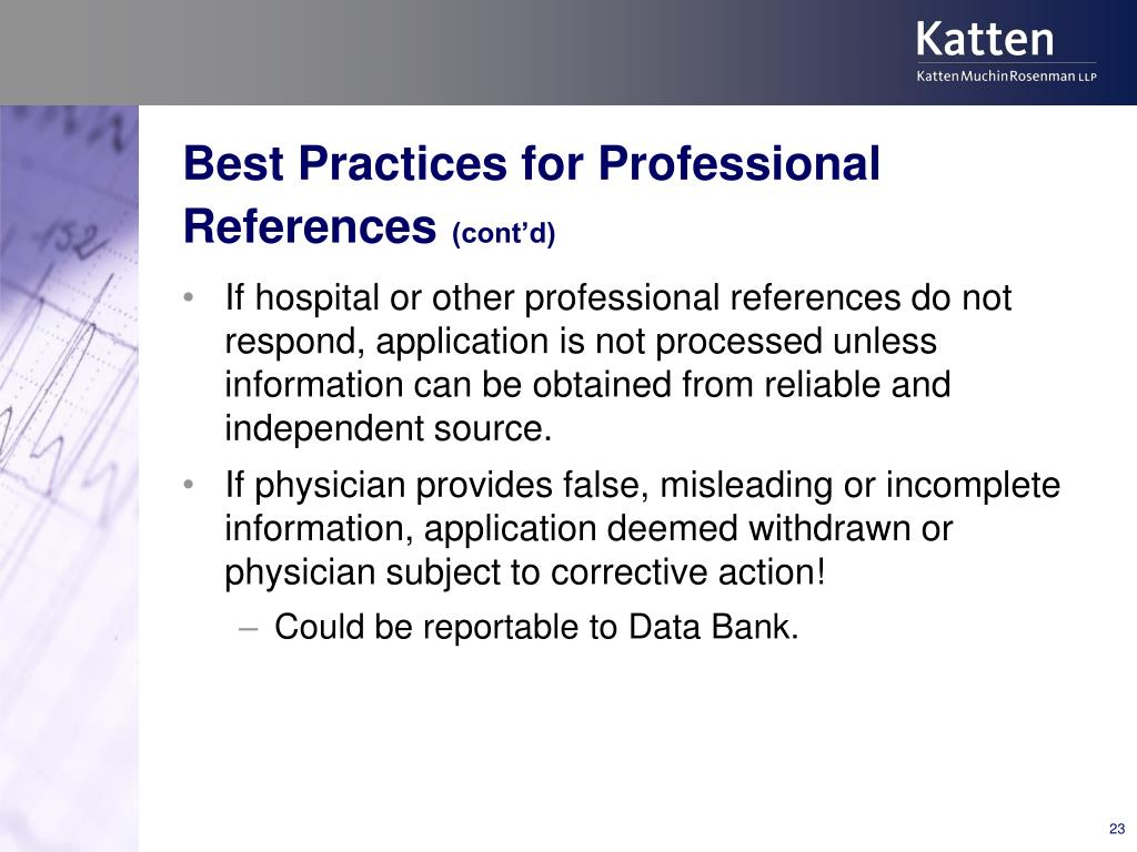 Best Practices for Professional References