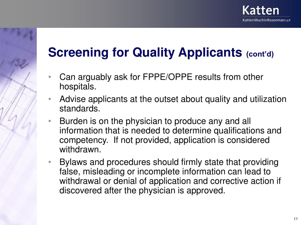 Screening for Quality Applicants