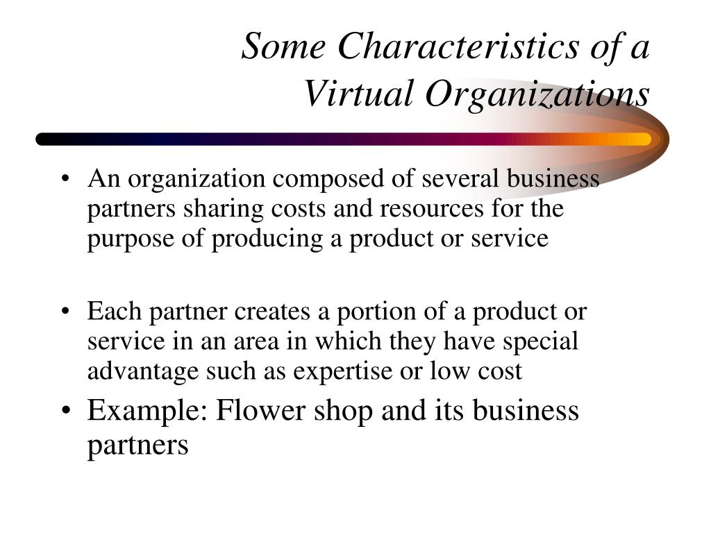Some Characteristics of a