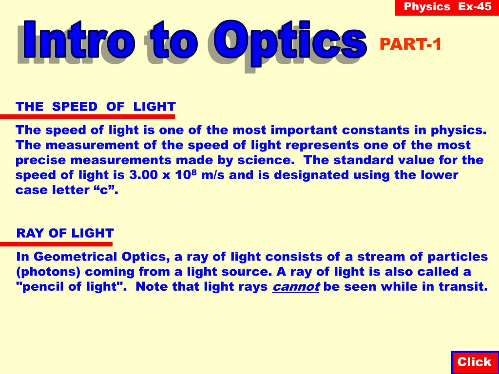 Intro to Optics