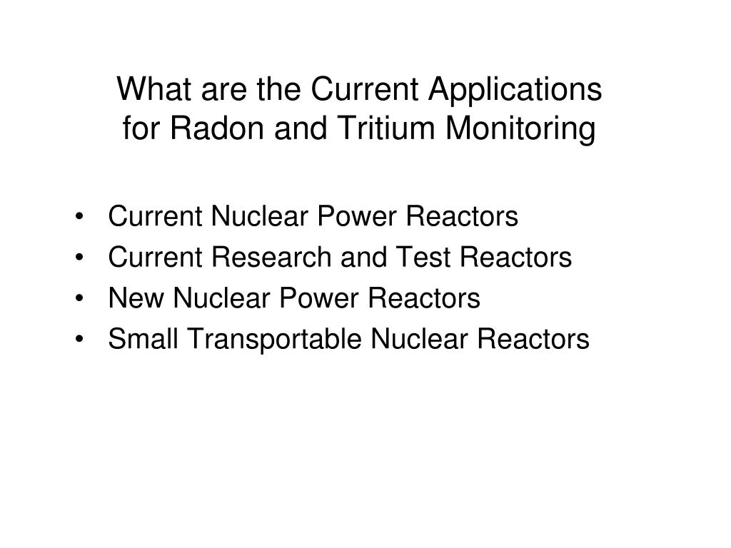 What are the Current Applications