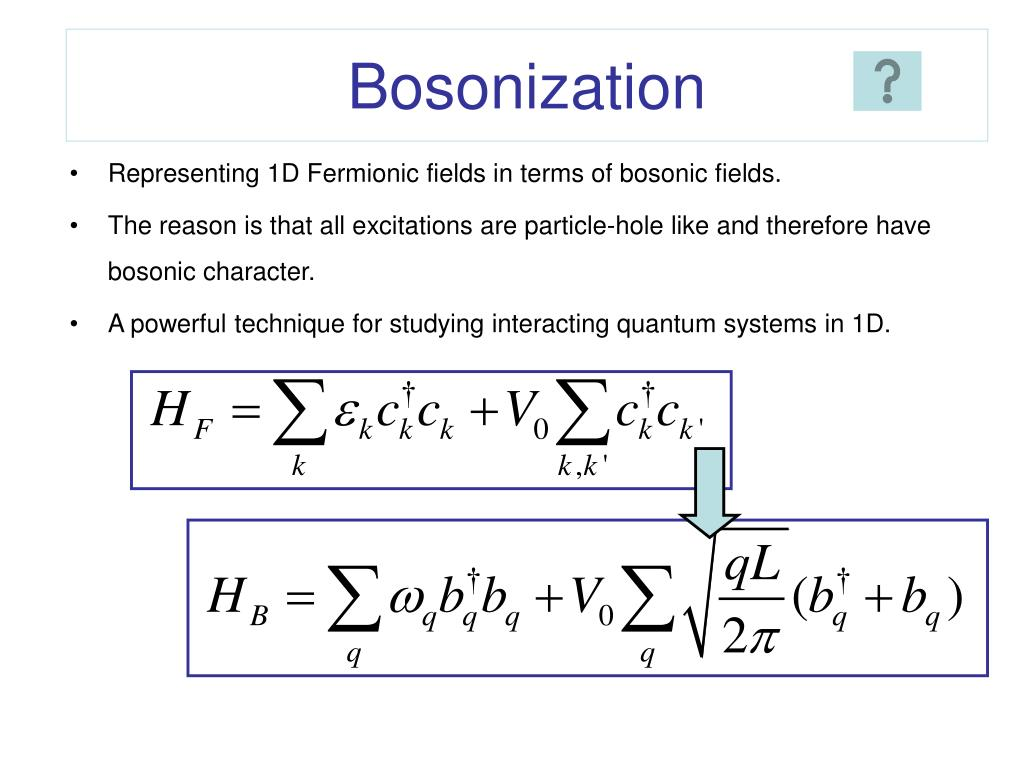 Bosonization
